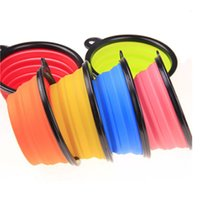 Wholesale collapsible water bowls for dogs for sale - Group buy Pet Bowl for Dog Cat Pets Portable Silicone Feeders Foldable Collapsible Bowls for Cats Dogs Travel Feeding Water Dish Feeder