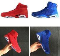 zapatillas de baloncesto de china al por mayor-Barato Alta Calidad 6 6s China Red hombres zapatos de baloncesto Chino Azul para hombre Zapatillas de Deporte zapatillas de deporte al aire libre zapatillas de running Eur 41-46