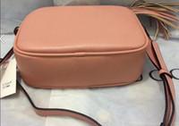 saco de embreagem com cinto venda por atacado-Nome do desenhador de alta qualidade das mulheres borla corpo cruz dama de couro rosa Trunk fashion lady sacos de ombro cinto bolsas de embreagem bolsa G1734