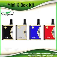 Wholesale mini k - Authentic KangVape Mini K Box Starter Kits 400mAh Battery with Thick Oil Vaporize 0.5ml Ceramic Coil Cartridge Kit 100% Genuine