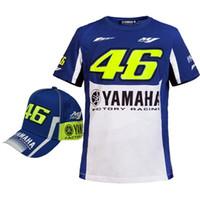 Wholesale dirt bike yamaha - Motocross Rossi Vr46 T-Shirt For Yamaha Valentino Rossi Motorcycle Tops 100%Cotton Shirt Men Motogp Dirt Bike Breathable Shirts