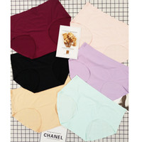 Wholesale Hip Wraps - Underwear factory direct sales of non - Trace women's underwear, pure cotton wrapped hip seamless ice silk panties