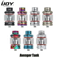 Wholesale glass mesh - 100% Original IJOY 3.2ml Avenger Subohm Tank Atomizer with 4.7ml Replacement Glass Tube X3-Mesh Coil Authentic