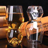 Wholesale Pretty Cut - 500ML Crystal Whiskey Wine Drinking Cup Gourd Concave Glass Small pretty waist KTV Cup Beer Glasses Pint Juice Glass Drink ware