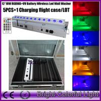 dj led china al por mayor-Suministro de China inalámbrico recargable llevó la luz del escenario RGBWAUV 6 en 1 batería inalámbrica dmx llevó la luz de lavado 12x18w led uplight para DJ