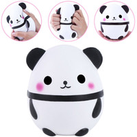 Wholesale baby panda toy - 15cm PU Squishy Panda Egg Doll Soft Jumbo Cream Scented Squeeze Slow Rising Simulation Bread Dcompression Baby Toy Children Kids Toys AAA173