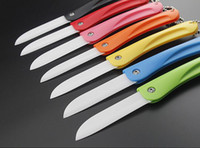 Wholesale gift ceramic knife resale online - New Foldable Ceram Ceramic Knife Gift Knifes Pocket Ceramic Folding Knives Kitchen Fruit Vegetable Paring Parer With Colorful ABS Handle