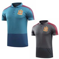 Wholesale polo jersey shirt online - camisetas de futbol ASENSIO MORATA Spain Polo jerseys world cup RAMOS INIESTA Training Polo shirt Camisa maillot de foot