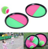 lanzar juego de pelota al por mayor-Niños Niños Throw Catch Ball Game Set Sticky Ball Target Juegos Deportes Toy Gift EEA178 20pcs