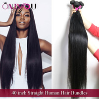 продукты для девственных бразильских волос оптовых-Продукты для волос Onlyou 40-дюймовые прямые пучки человеческих волос норковые бразильские перуанские индийские малайзийские мягкие прямые волосы Remy Virgin