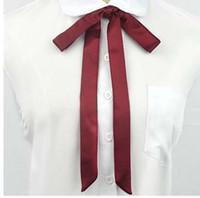 schmetterlingsseil großhandel-JK Fliege High School Girls Krawatte Japanische Preppy Chic Uniform Comic und Animation Cosplay Neck Rope Butterfly Navy Blue