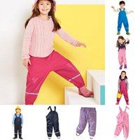 Wholesale cheap kids clothing brands - Babyonline Hot Sell 2018 Unisex Girl Boy Ski Snow Pants Overalls Trousers Waterproof Kids Outdoor Rompers Children's Clothing Cheap MC1306