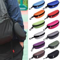 Sunglasses Case Eyeglasses Box Glasses Bag Eyeglasses Carry Box Sunglass Portable Zipper Hook Hard Holder Sunglasses 12 Colors