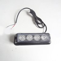 Wholesale hazard warning - 4 LED Car Flash Truck Emergency Beacon Light Bar Hazard Strobe Warning Yellow