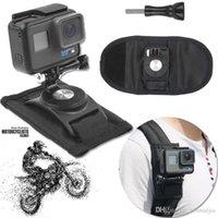 monter achat en gros de-Support de support de montage sac à dos noir pour caméra de sport accessoire GoPro Hero 4 5 6