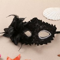 Wholesale white plastic half face masks resale online - Women Costumes Cosplay Sexy Mask Funny Dress Masks Hallown Red Black White Plastic Half Face Mask