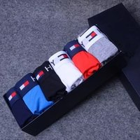 Wholesale Boxers For Boys - Fashion Brand Mens Underwear Boxers Letter Sexy Soft Cotton Underpants Sports Casual For Boys Free 1