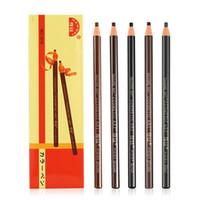 Wholesale Cheap Color Pencils - New Hot Hengsi 1818 Eyes Makeup Waterproof Eyebrow Pencils Black Brown Natural Eye Brow Pen Cheap Make Up