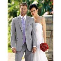 estilos de esmoquin gris al por mayor-Nueva llegada de moda gris claro novio esmoquin estilo mañana dos botones Mejor hombre de boda traje de novio tres piezas trajes formales