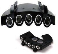 ingrosso campeggio attrezzatura esterna attrezzatura-Outdoor Gear LED Lampada Clip Hat Batteria contenente attrezzatura da campeggio Fari Ultra Bright Pure Black Color 3tt bb