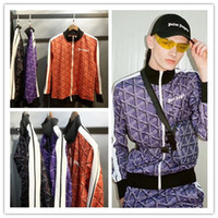 ingrosso migliori giacche di moda-Autunno Giacca Palm Angels Uomo Donna La migliore qualità del cotone Moda Hip Hop Palm Angels Jacket Zipper Full Letter Print Jacke