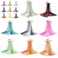 Wholesale scarf online - Gradual change scarves ladies change scarves shawl georgette scarves thin beach towels long towels MMA827
