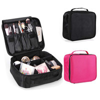 Wholesale train case cosmetic bags resale online - Large Makeup Organizer Toiletry Bag Adjustable Makeup Train Case Cosmetic Bag Waterproof Travel Organizer Bags For Women Girls