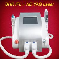 Wholesale ipl machine shr online - OPT SHR IPL laser machine fast hair removal Nd Yag laser tattoo removel Elight Skin Rejuvenation alexandrite laser machine