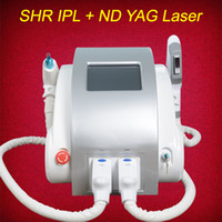 Wholesale acne treatment face - OPT SHR IPL laser machine fast hair removal Nd Yag laser tattoo removel Elight Skin Rejuvenation alexandrite laser