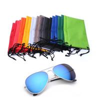 gadgets de calidad al por mayor-Gafas de sol de alta calidad Gafas Gadgets Limpieza Bolsa de almacenamiento Bolsa de cuerda de remolque para teléfono celular reloj gadget 061