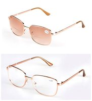 12a0034f72fd Wholesale bifocal lenses for sale - Unisex Retro Vintage Computer Metal  Gold Tinted Clear Lens Bifocal