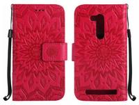 caches asus zenfone achat en gros de-Coques téléphones portables pour ASUS ZenFone ZB452KG ZB551KL ZD552KL GO 4 Étui Selfie Pro Flip Cover Cuir de luxe Tournesol