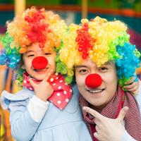 accesorios de fiesta de espuma al por mayor-50 unids 5 cm Red Clown Nose Foam Circus Nariz Cómica Máscaras Suministros de Fiesta Accesorios de Halloween Traje Mágico Vestido de Fiesta Suministros