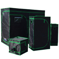 Wholesale growing room - Reflective Mylar Grow Tent Green plant room with Obeservation Window and Floor Tray for Indoor Flowers Plant Growing