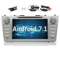 polegada octa core telefone venda por atacado-Eincar Para TOYOTA Camry 2007 2008 2009 2010 2011 2012 8''Android 7.1 Indash CAR Leitor de DVD Navegação GPS Bluetooth Rádio 2G + 32G Octa-core