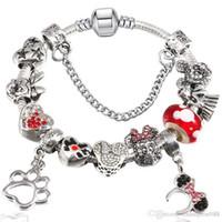 ingrosso fata di pandora-Braccialetto di perline fai da te Braccialetto di perle di fiaba per il braccialetto di gioielli di stile Pandora