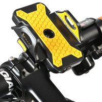 Wholesale cycling bike light set for sale - Cycling Bike Bicycle Handlebar Phone Holder Bracket Mount Stand LED Light Compass Set with Retail Box High Quality