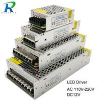 ses seviyesi anahtarı toptan satış-Güç Kaynağı LED Sürücü DC 12 V Küçük Hacim Tek Trafo 5A 15A 25A 3A dc12v volt Çıkış Anahtarlama LED Şerit 5050 için led