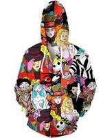 totoro sweatshirts großhandel-jacke herren jacken 3d totoro cartoon hoodie reißverschluss pullover anime pullover drachenball Zip Up Hoodies Sweatshirt herren kapuzenjacken S-5XL