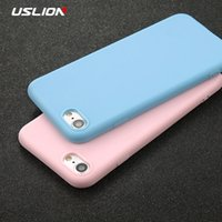 Wholesale USLION Phone Case For iPhone s X Plus s SE XR XS Max Simple Solid Color Ultrathin Soft TPU Case Candy Color Back Cover