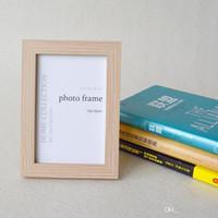 """marco plástico de la foto llaveros personalizados al por mayor-Colores Marco de madera marco de fotos Foto espejo para foto de 5x7 """""""