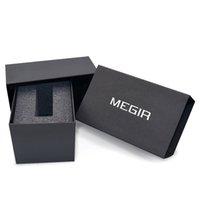 cajas de relojes originales de embalaje al por mayor-Megir Watch Box Original Fashion Sport Relojes Paquete al por menor
