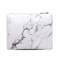 каменные корпуса оптовых-Yesello Marble PU Leather Stone pattern Cosmetic Bag Storage Travel Cosmetic Organizer Wash Bag Necessaries Make Up Case