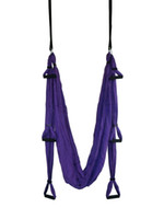 yoga swing toptan satış-Anti yerçekimi Yoga hamak Kolları ile tam set Hava salıncak Post Posta ile Nakliye 15-30 gün