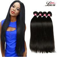 Wholesale 22 Inch Black Hair Weave - Brazilian straight Virgin Hair 3 Bundles 8A Brazilian virgin Hair straight Unprocessed Peruvian Malaysian Body virgin Human hair Extensions