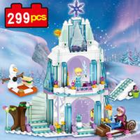 la construcción de bloques de castillo juguetes al por mayor-79168 299pcs bloques de construcción princesa Sets Set Princesa de hielo Castillo de nieve lepin juguetes modelo de hijo de bricolaje comparables con Nego