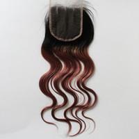 ingrosso chiusure di capelli marroni chiari-Chiusura superiore in pizzo vergine capelli colore bruno 4