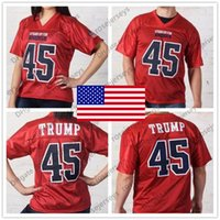 bfe5bbb13 Stand Up For America  45 Donald Trump SF  7 Colin Kaepernick Red Black  White American football Mens Womens Youth Kids Jersey S-4XL