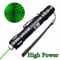 caneta laser militar venda por atacado-Mais novo marca 1mw 532nm 8000 m alta potência ponteiro laser verde luz caneta lazer feixe militar lasers verde