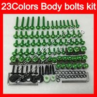 Wholesale gsxr plastics - Fairing bolts full screw kit For SUZUKI GSXR1000 00 01 02 K1 GSXR 1000 GSX R1000 K2 2000 2001 2002 Body Nuts screws nut bolt kit 23Colors